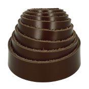Sangle en cuir MARRON CHOCOLAT  - Veau lisse - Largeur 20 mm
