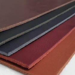 Morceau de cuir de croupon tannage végétal - NOIR - Ép 3,7mm - 2'choix