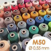 Bobine de 80m de fil de lin ciré MeiSi super fine M50 - 0,55 mm