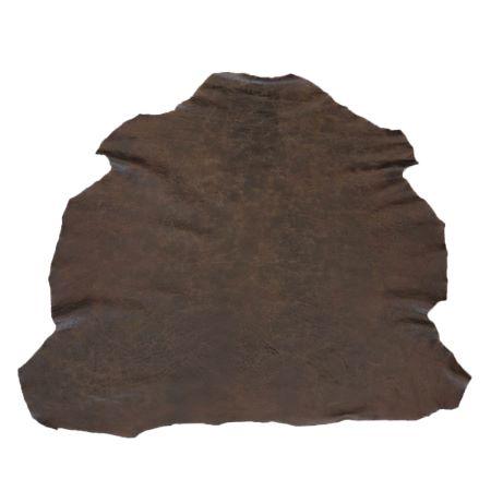 Peau entière de cuir de basane FRANCE - MARRON VIEILLI BAF04
