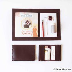 Kit complet duo de portes cartes en cuir