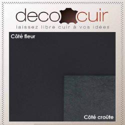 Morceau de cuir de croupon - NOIR C45