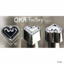 Matoir sur manche OKA - Coeur en relief - O53