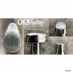 Matoir sur manche OKA - Pear Shader strié vertical 6mm - P215