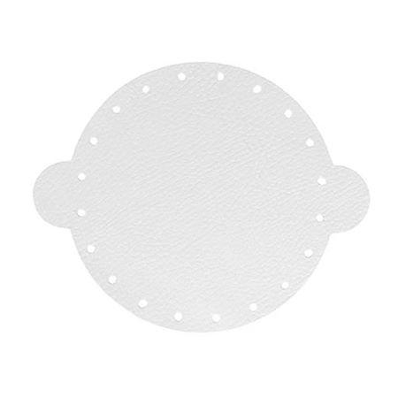 Cuir déja coupé pour faire une bourse en cuir BLANC - Diamètre 20 cm