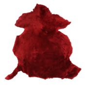 Peau de mouton lainé lisse - Dos velours - ROUGE D99