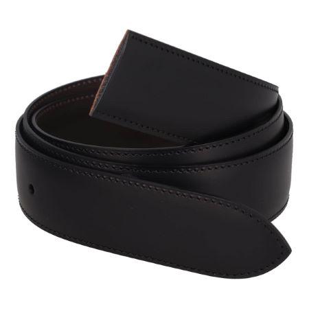 Cuir de ceinture de Luxe Lisse - T40 maxi - 30 mm - Sans boucle