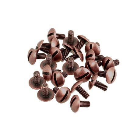 Lot de 25 vis 3x7 mm - Vieux cuivre