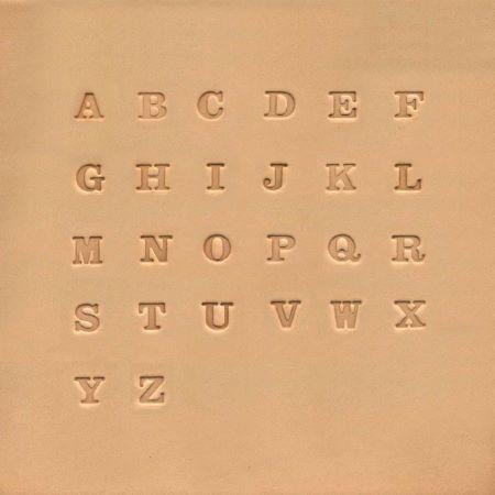 Jeu des 26 lettres de l'alphabet à frapper IVAN - Lettres pleines - 0,63 cm
