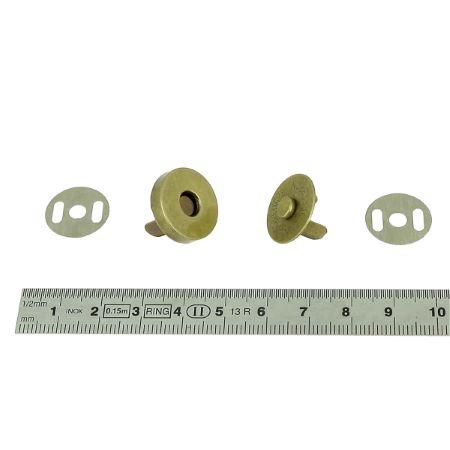 Lot de 50 TOP magnétique ECONOMIQUE - d=18mm - Laiton vieilli