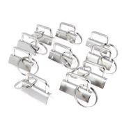 Lot de 10 têtes de porte clés à griffe 25 mm - NICKELÉ