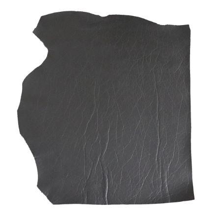 Peau de cuir de veau doublé mousse - GRIS ANTHRACITE MAT D32