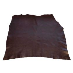 Collet de cuir souple tannage végétal - MOKA SATINÉ E02 - Ép 1,2 mm