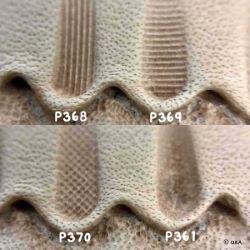 Matoir sur manche OKA - Thumbprint strié vertical 3,5mm - P368