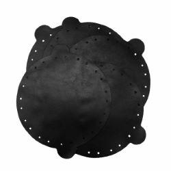Lot de 5 cuirs déja coupés pour bourse NOIR - Diam 14,5cm