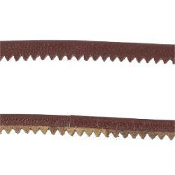 Passepoil en cuir cranté au mètre - Marron moyen