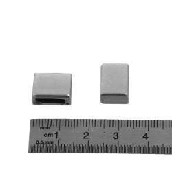 Coulissant CLASSIQUE PLAT LARGE - Lanière de 10 mm - ARGENT VIEILLI