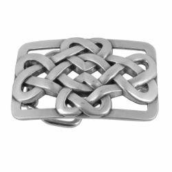 Boucle de ceinturon noeud celtique - KEA - ARGENT VIEILLI - 30 mm