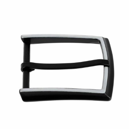 Boucle de ceinture KOU - NOIR MAT - 35mm