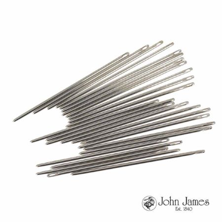 25 aiguilles sellier - Bout rond - Lg=62mm - d=1,6mm - Taille 3/0