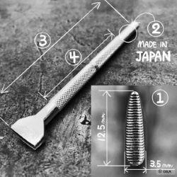 Matoir sur manche OKA - Thumbprint strié horizontal 3,5mm - P369
