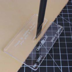 Plaque de maintien du cuir pour griffe à frapper - Deco Cuir
