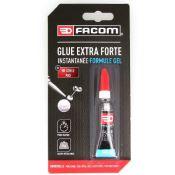 Tube de 3g de glue extra forte cyanoacrylate - GEL- FACOM