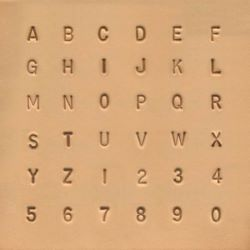Jeu de chiffres et de lettres standards - 0,64 cm - 1/4