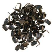Lot de 100 agrafes pour cuir finition Laiton vieilli