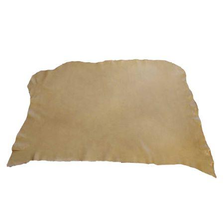 Collet de cuir souple tannage végétal - BISCUIT E03 - Ép 1,3 mm