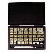 Jeu de 142 matoirs en laiton - Lettres, chiffres et symboles - 6mm - CRAFTOOL PRO