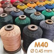 Bobine de 90m de fil de lin ciré MeiSi super fine M40 - 0,45 mm