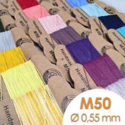 Cartonnette de 8m de fil de lin ciré MeiSi super fine M50 - 0,55 mm