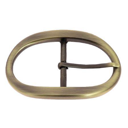 Boucle double ovale - BEA - LAITON VIEILLI SATINÉ - 40 mm
