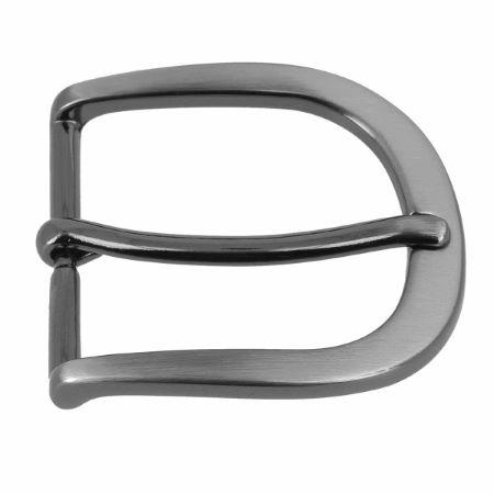 Boucle de ceinture BUN - CANON DE FUSIL SATINÉ - 35 mm