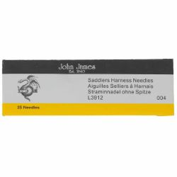 25 aiguilles sellier - Bout rond - Lg=48mm - d=0,8mm - Taille 004