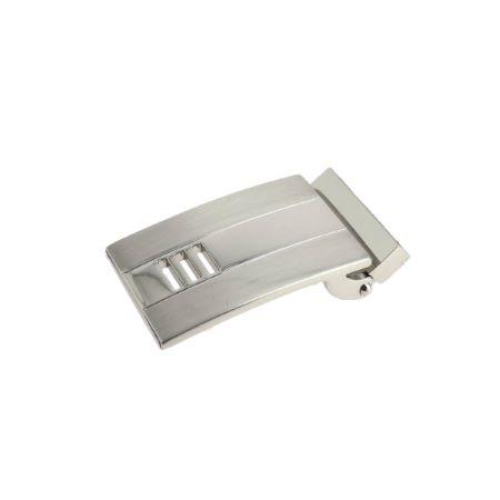 Boucle de ceinture à griffe MAH - NICKELÉ et SATINÉ - 30 mm