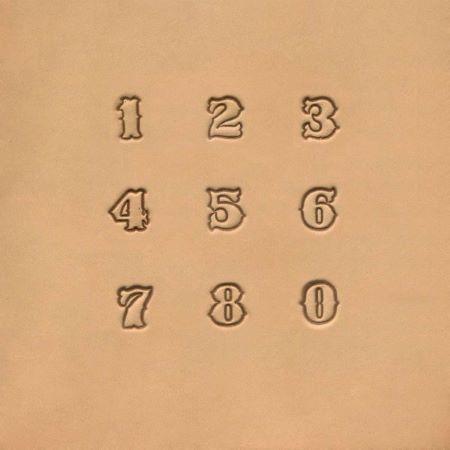 Jeu de 9 chiffres à frapper - 1,25 cm