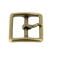 Boucle en laiton massif - CAR - LAITON VIEILLI - 25 mm