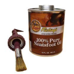 Neatsfoot Oil - Huile 100% pied de boeuf - FIEBING's - 946ml avec pinceau