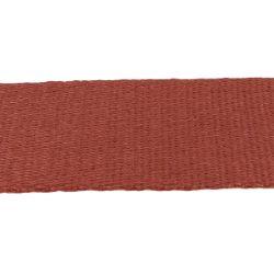 Sangle coton MARRON BRIQUE - Largeur 50 mm - 3 mètres