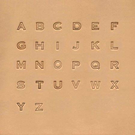 Jeu des 26 lettres de l'alphabet à frapper - Lettres évidées - 0,63 cm