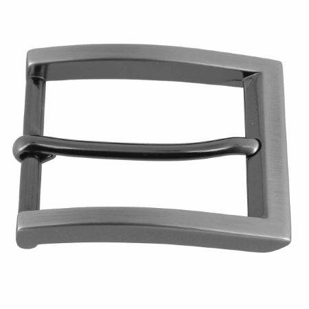 Boucle de ceinture NUH - CANON DE FUSIL SATINÉ - 35 mm