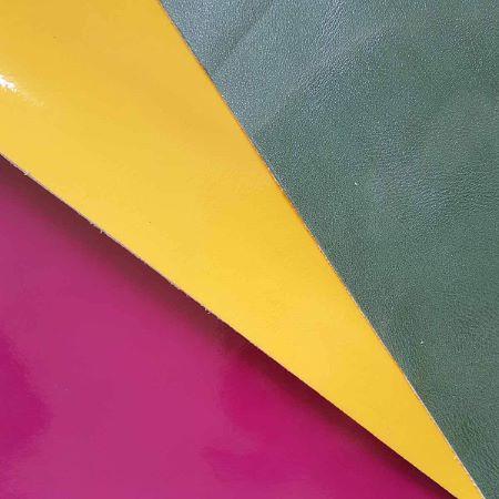 Lot SURPRISE de 3 morceaux de cuir divers de dimension 30x40 cm - VERNI