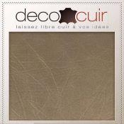 Morceau de cuir de veau grain coton - BRONZE D09