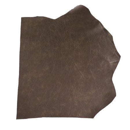 Peau de cuir de veau doublé mousse - MARRON D29