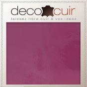 Morceau de croûte de cuir verni - ROSE FUCHSIA D60