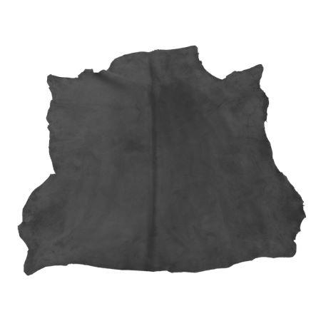 Peau de cuir d'agneau velours - GRIS FONCÉ D91 - 2' choix