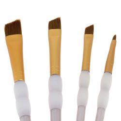 Lot de 4 pinceaux en Taklon - Angled set