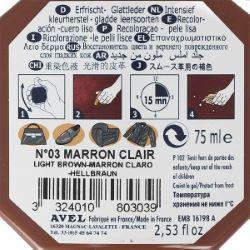 Recolorant pour cuir Juvacuir 75 ml marron clair SAPHIR